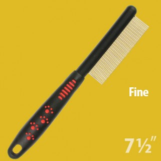 easy grip dog grooming fine comb