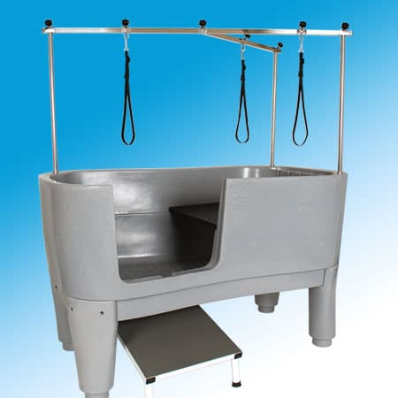 Freedom static polyprolylene bath ramp access ivory for A bath and a biscuit grooming salon